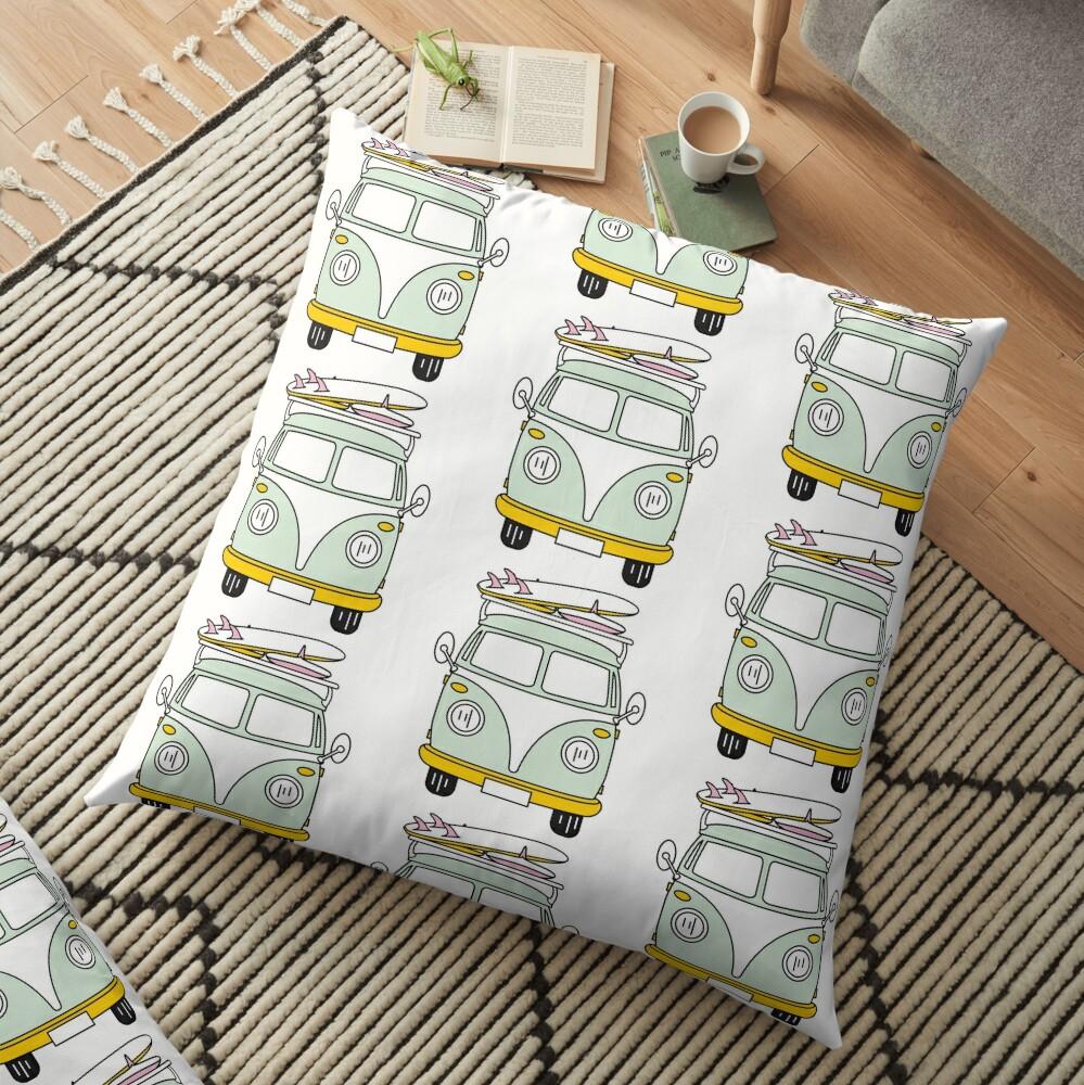 VW Van Floor Pillow