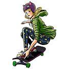 Shelly Skateboarding by jupejuperocket