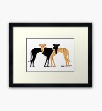 Head Rest Hound: A Redbubble exclusive design Framed Print