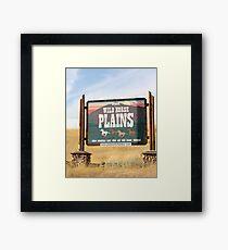 Wildhorse Plains Montana Framed Print