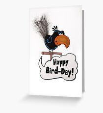 Glücklicher Vogel-Tag Grußkarte