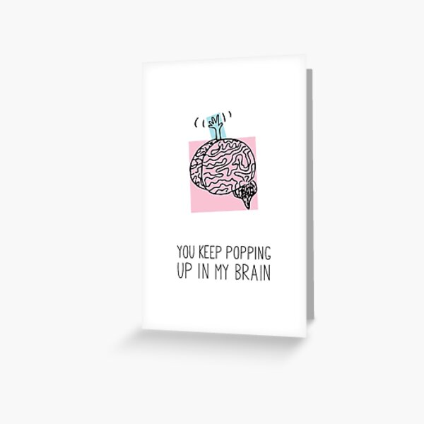 Brain Buddy Greeting Card