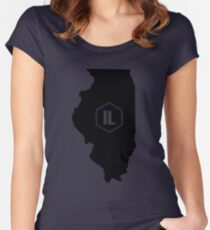 Illinois Homer (Black) Women's Fitted Scoop T-Shirt