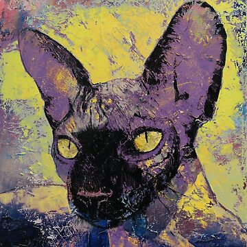 Sphynx Cat Painting by michaelcreese