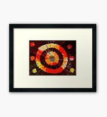 A beam of light. Abstract.  Framed Print