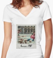 Call Me By Your Name Polaroid #2 Fitted V-Neck T-Shirt