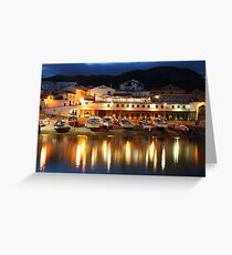 Harbour at dusk Greeting Card