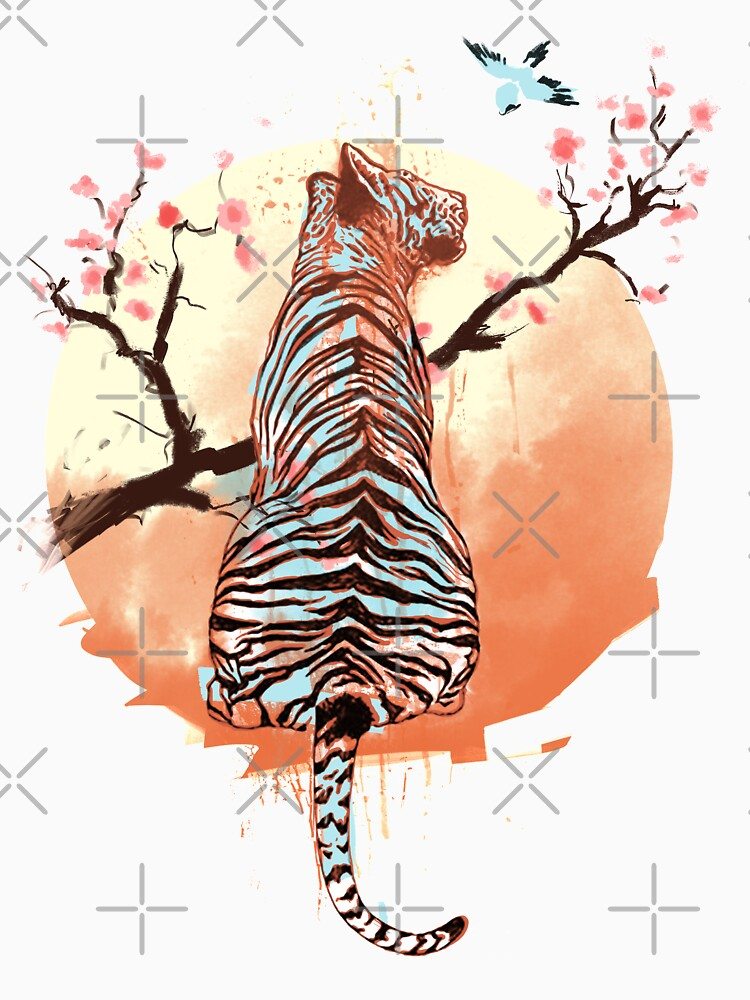 Tiger at the sakura's tree by THEILO