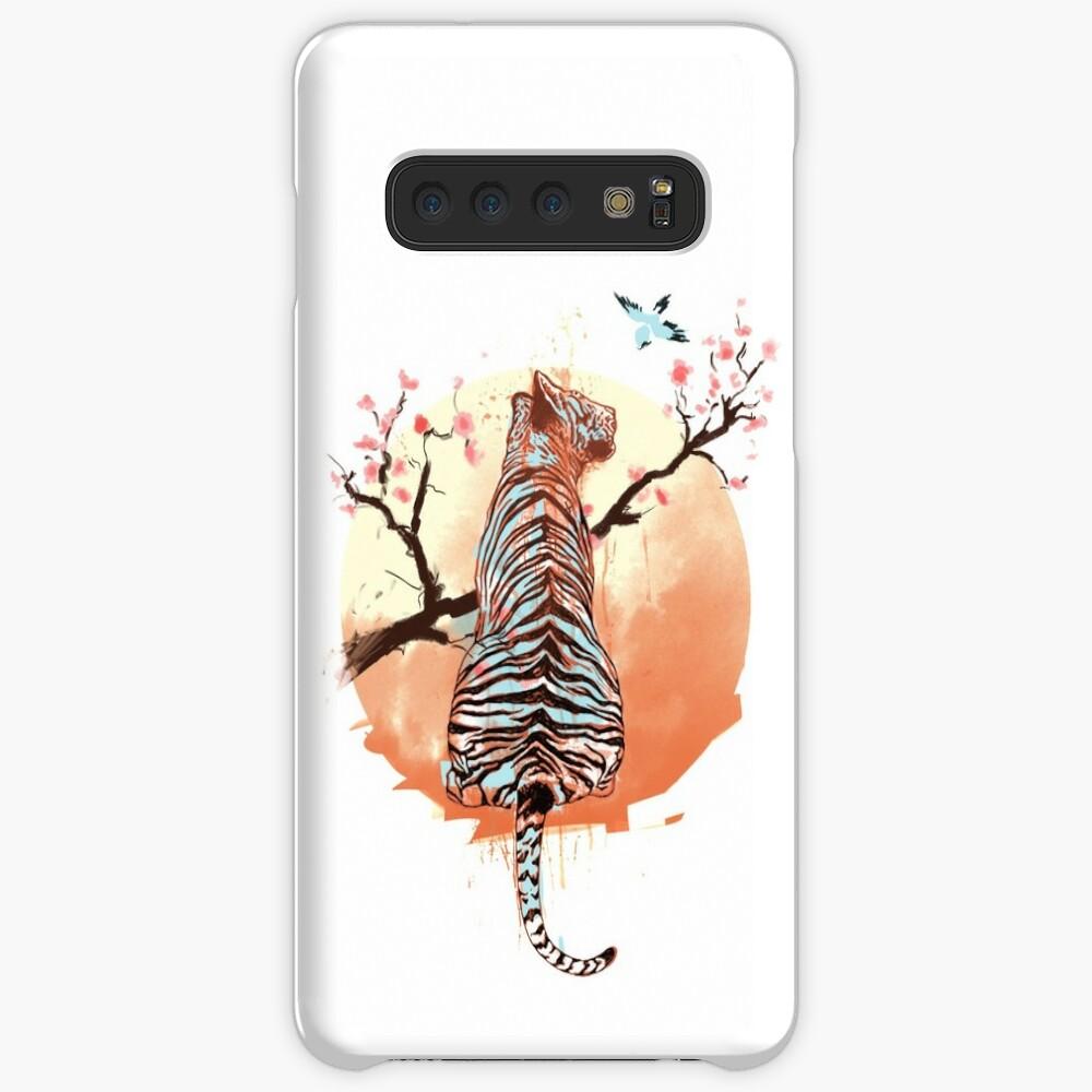 Tiger at the sakura's tree Cases & Skins for Samsung Galaxy
