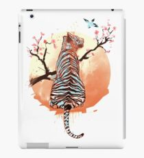 Tiger at the sakura's tree iPad Case/Skin