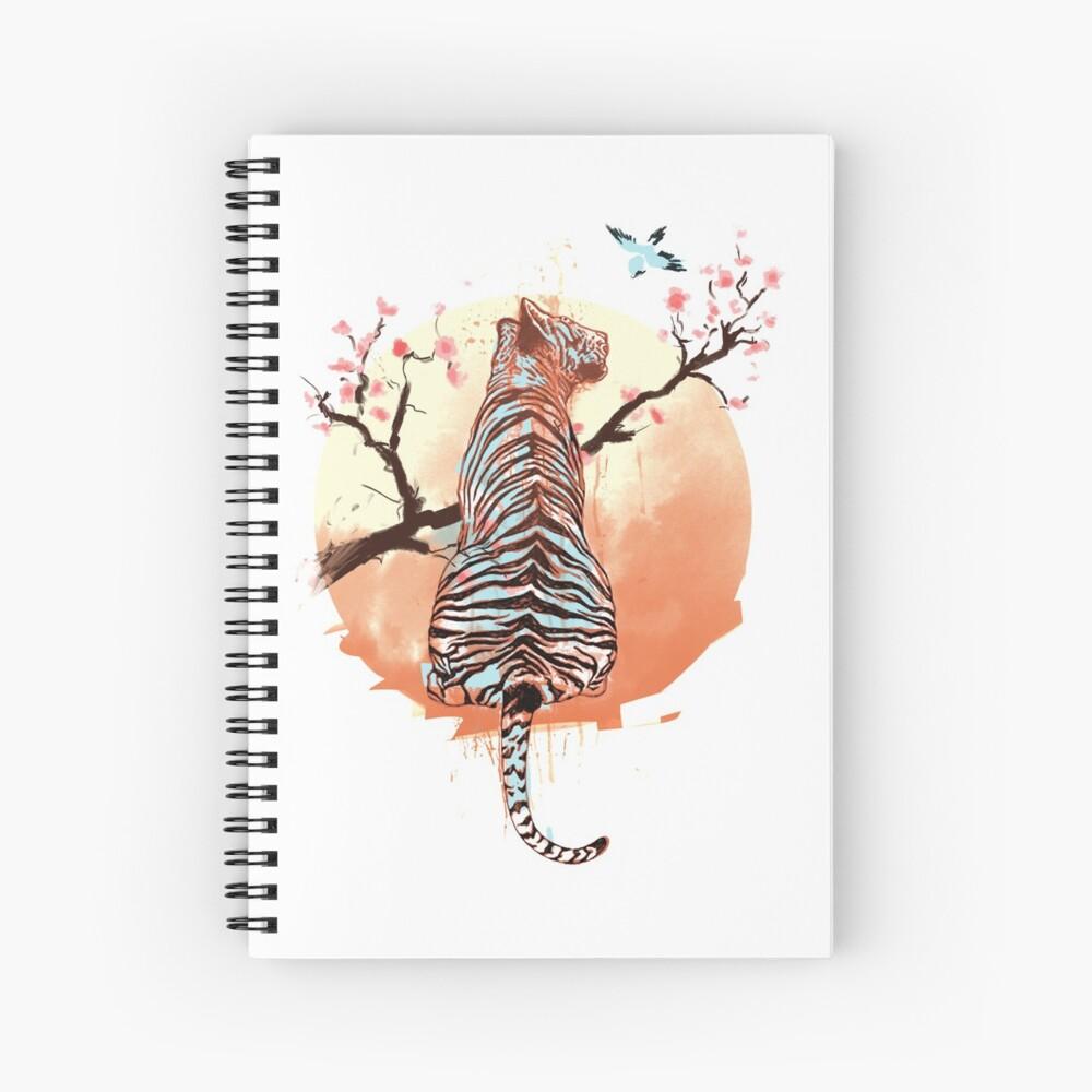 Tigre en el árbol de sakura Cuaderno de espiral