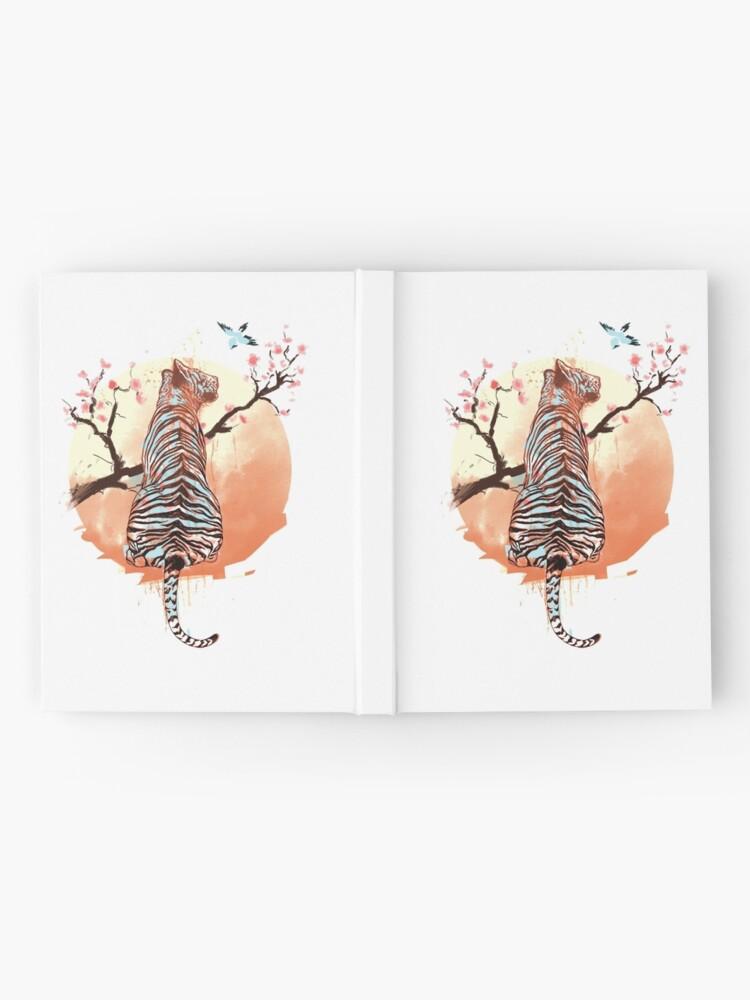Vista alternativa de Cuaderno de tapa dura Tigre en el árbol de sakura