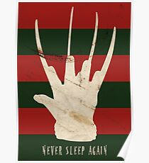 Póster Nunca dormir otra vez