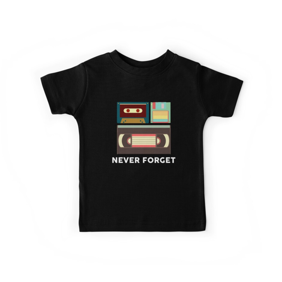 Never Forget Floppy Disk, VHS, Cassette Tape by melsens
