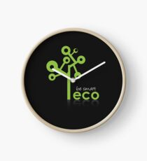 Eco Green System Clock