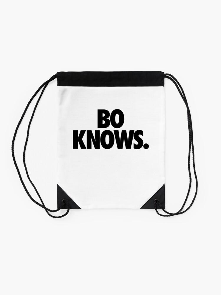 Alternate view of Bo Knows Drawstring Bag