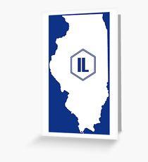 Illinois Homer (White) Greeting Card