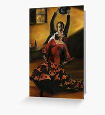 Flamenco Dancers Greeting Card