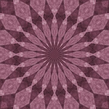 Mauve Abstract Geometric Pattern by DonnaSiggy