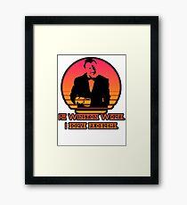 Winston Wolf - Pulp Fiction Framed Print