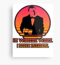 Winston Wolf - Pulp Fiction Metal Print