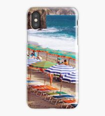 Parasol Mania - Cinque Terre - Italy iPhone Case/Skin
