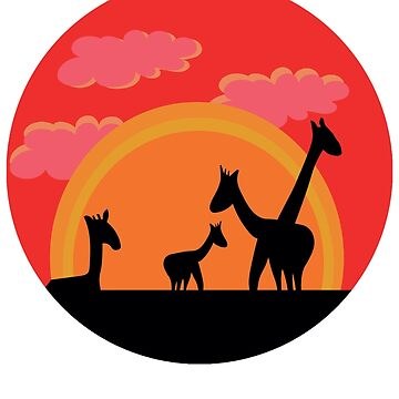 Silhouette Safari Sunset by SmithDesign