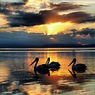 Lakes Sunset by Jack Miller