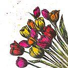 Spring Fling Tulips by Jeri Stunkard