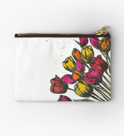 Spring Fling Tulips Studio Pouch