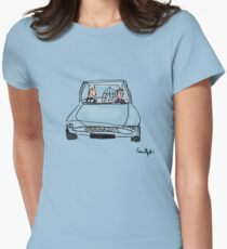 Flying Car Womens Fitted T-Shirt