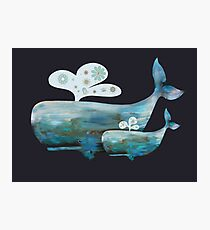 Two Whale Tails Photographic Print