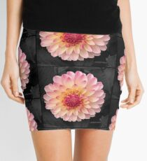 Pink Flower Art for Fashion and Home decor Mini Skirt