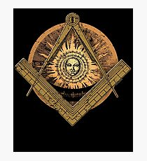 Freemason Masonic Freemason Past Master Golden Tee Photographic Print
