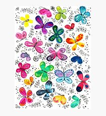 Butterflies | Inkies Pattern Collection Photographic Print
