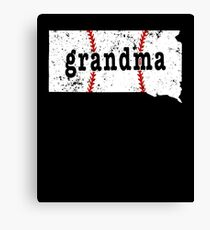 Softball Grandma South Dakota Grandma Baseball Shirts Canvas Print