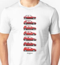 Generation Golf GTi (red) Unisex T-Shirt
