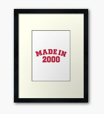 Made in 2000 Framed Print