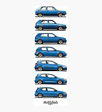 Generation Golf GTi (blue) Photographic Print