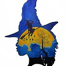 Witch Silhouette  by Erika Richards