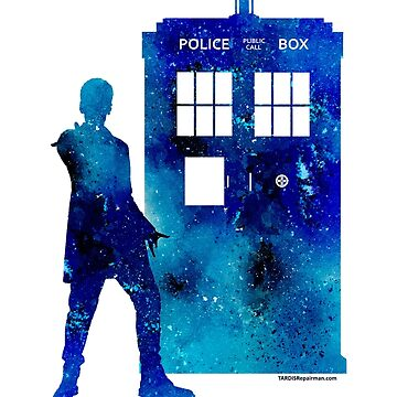 The 12th Doctor with the TARDIS by TARDISRepairman