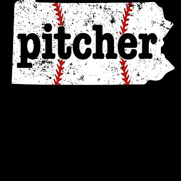 Baseball Pitcher For Kids Pennsylvania Softball Pitchers Shirt by shoppzee