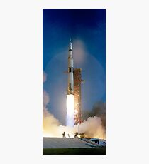 Vintage Photographie von Saturn V Fotodruck