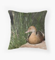 Plumed Whistling-duck Throw Pillow