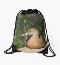 Plumed Whistling-duck Drawstring Bag