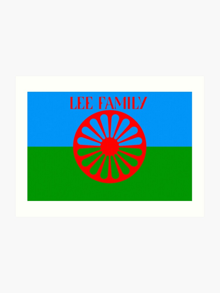 Lee Family Romany Roma Gypsy Flag Travellers Romanichal - Lee Surname Gypsy  | Art Print
