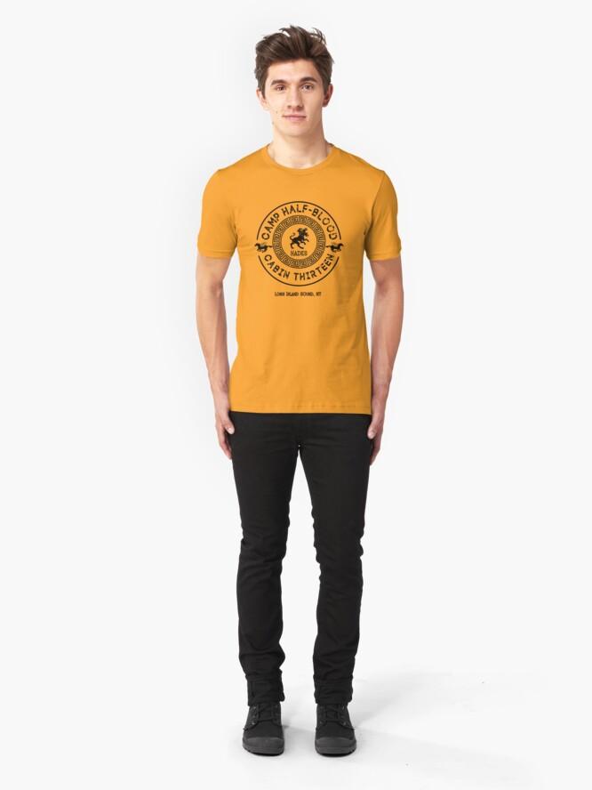 Vista alternativa de Camiseta ajustada Cabina Trece - Hades - Percy Jackson - Campamento mestizo