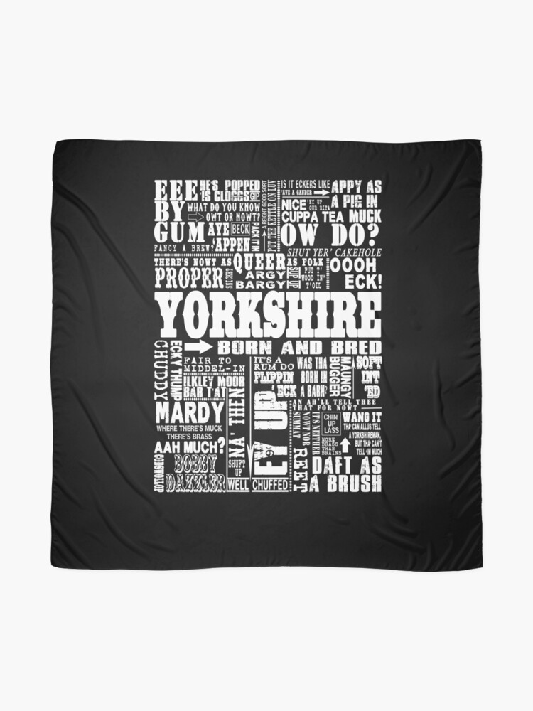 Alternate view of YORKSHIRE SAYINGS Scarf