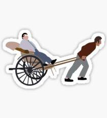 To The Idiotmobile! Sticker