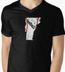 Vermont Baseball Tee Ball Tee Shirt Men's V-Neck T-Shirt